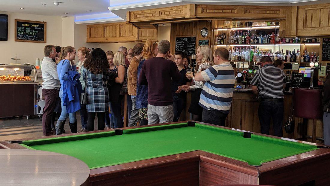 Riverside Country Club guests at bar