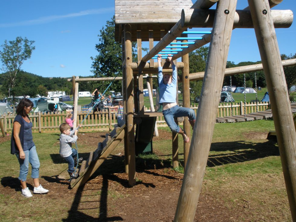 Playground at Riverside Camping and Caravan Park, South Molton
