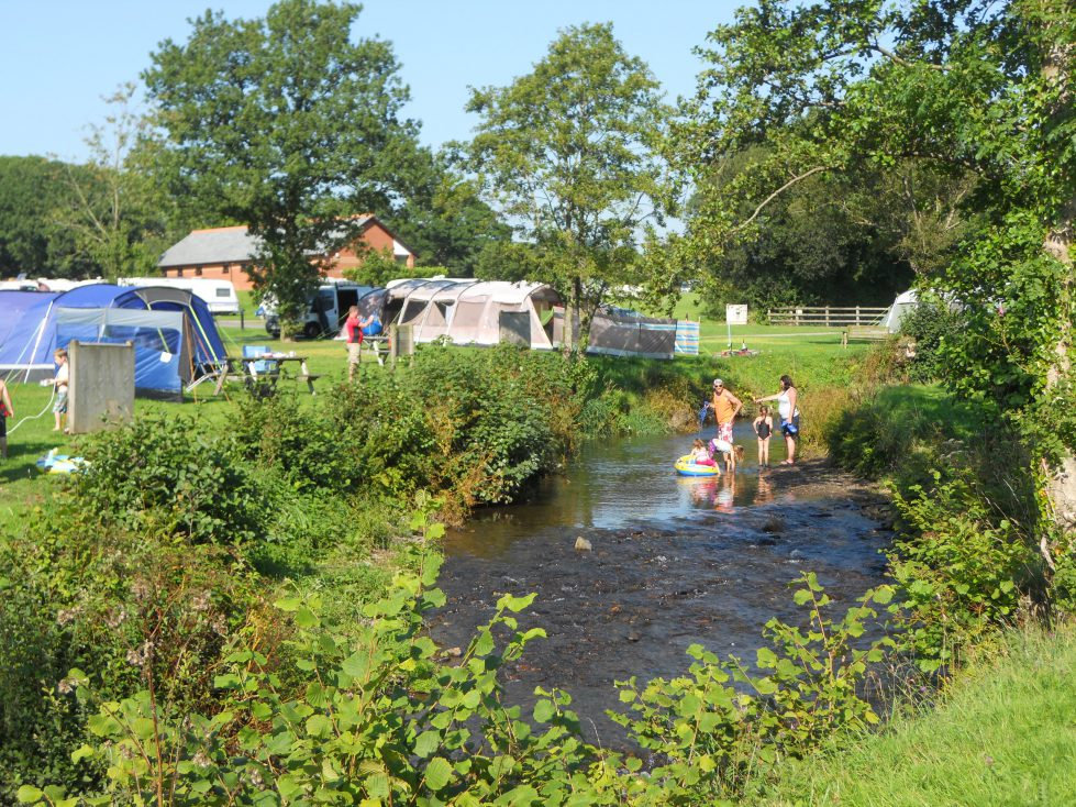 Stream at Riverside Camping Park, South Molton