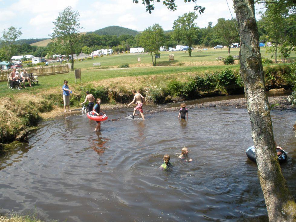 Stream at Riverside Camping and Caravan Park, South Molton