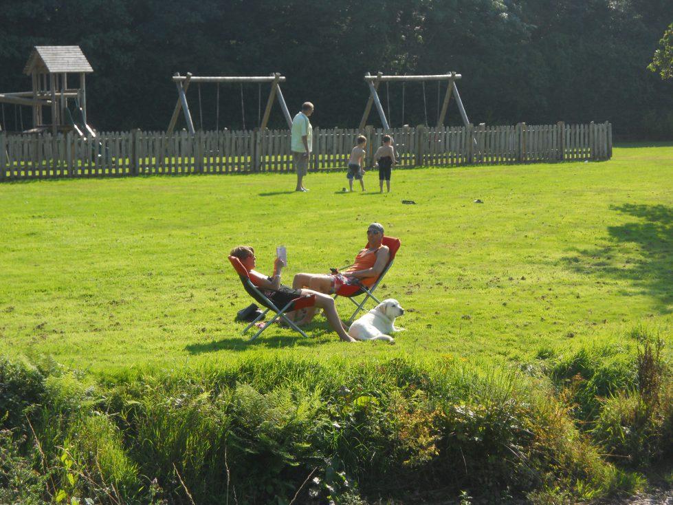 Playground at Riverside Camping & Caravan Park, South Molton