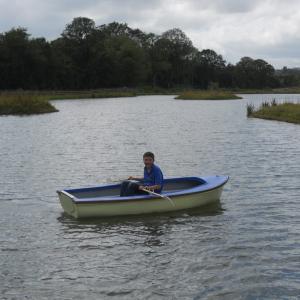 Kingfisher Lake at Riverside Camping & Caravan Park, South Molton