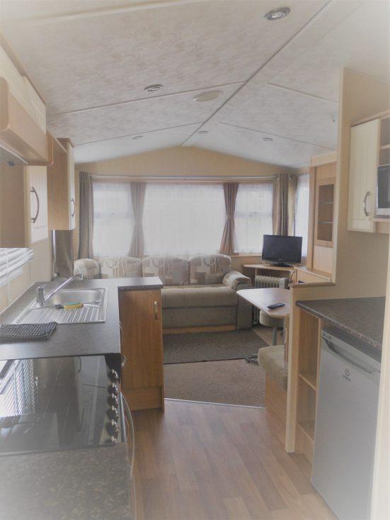 Static Van Interior Riverside Camping & Caravan Park, South Molton