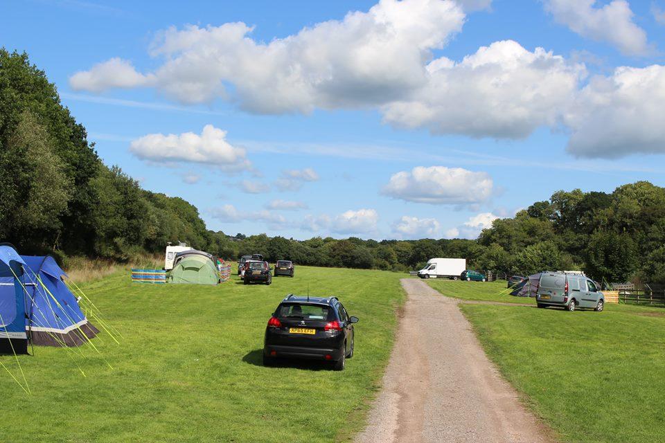 Camping Field Grass pitch Riverside Camping & Caravan Park, South Molton