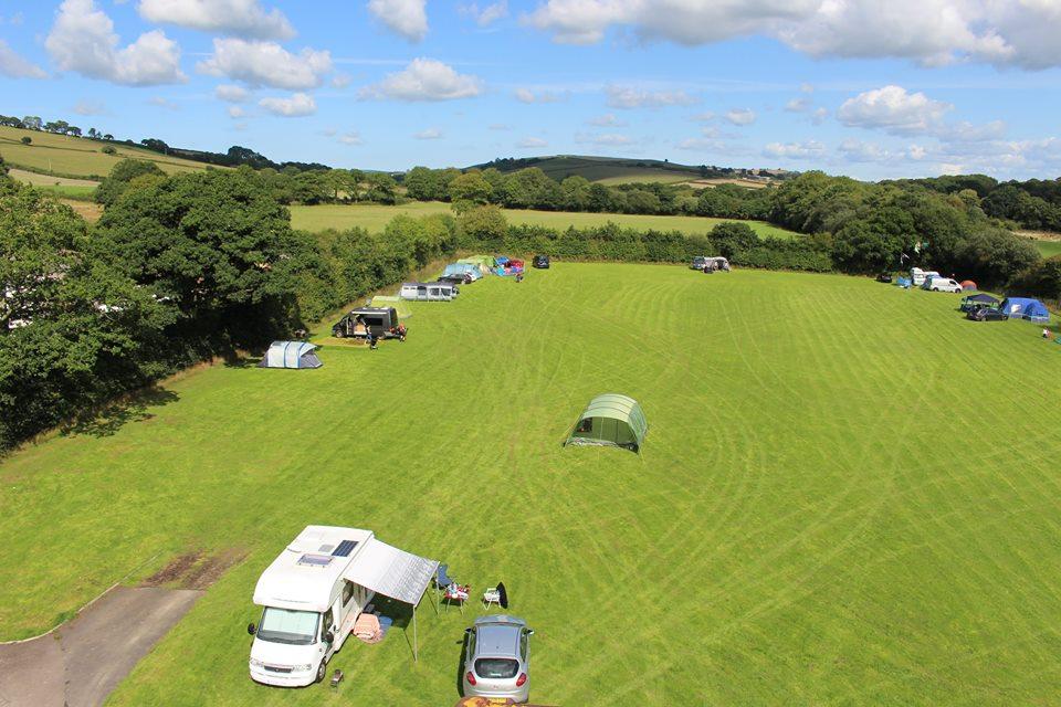 Camping Field at Riverside Caravan & Camping Site, South Molton